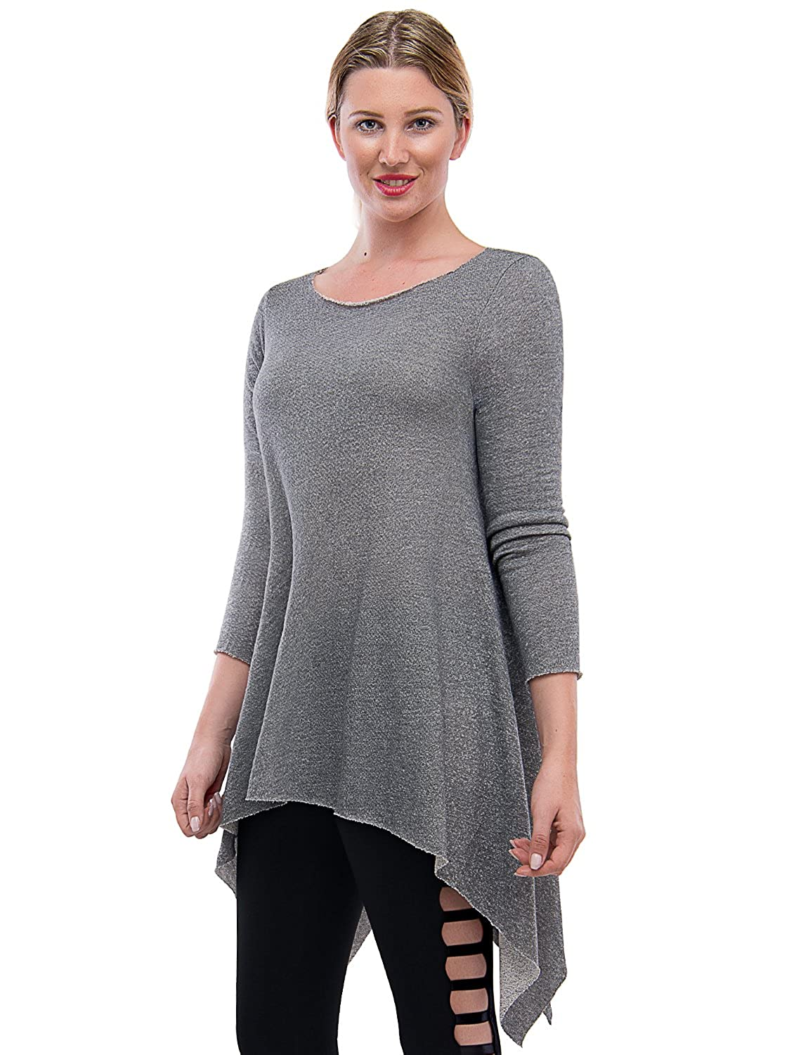 b9c474fb44c TAM WARE Women s Stylish Long Sleeve French Terry Tunic Top (Made in USA) at  Amazon Women s Clothing store