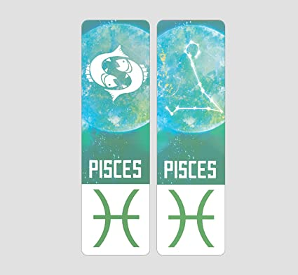 Zodiac Sign Indestructible Bookmark by Buttered Kat (Pisces)