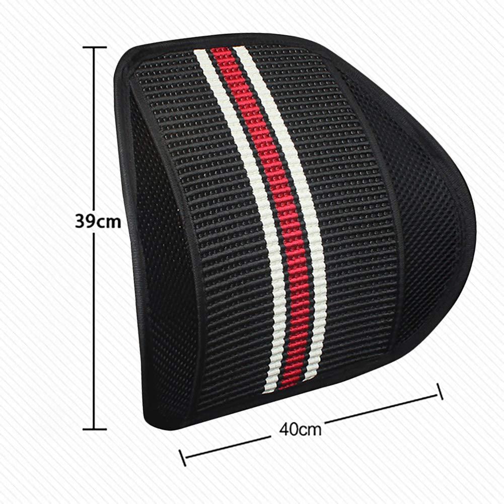 Pannow Soporte lumbar para respaldo de asiento de coche con doble capa de malla para asiento de coche silla de oficina
