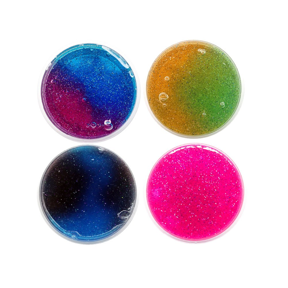MC1 Bestomrogh Boue de Cristal Color/é Couleurs /étoil/ées M/élange 2 Couleurs Cadeau dHalloween Decompression Jouets /éducatifs pour Enfants