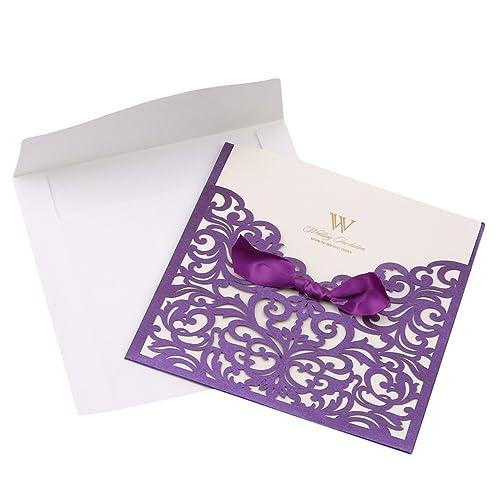 purple wedding invitations amazon co uk