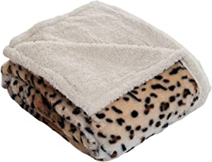 Lavish Home Throw Blanket, Fleece/Sherpa, Tiger