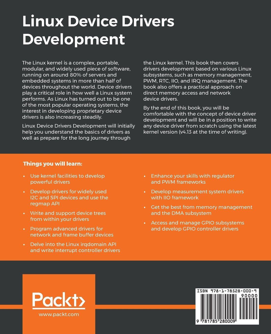 Linux Device Drivers Development: Develop customized drivers for