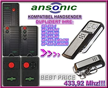 Ansonic SF 433 - 1/SF 433 - 2,3,4e/SF 433 - 1,2 Mini/M compatible ...
