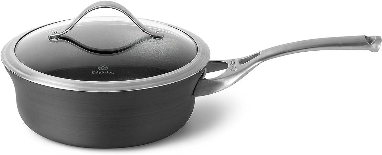 Calphalon Contemporary Hard-Anodized Aluminum Nonstick Sauce Pan, 2.5 Quart