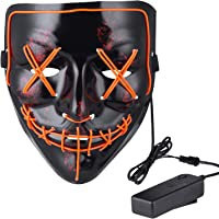 VSONG Halloween LED Light up Mask for Halloween Festival Cosplay Halloween Costume Party Decorations