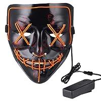 Wocst Halloween Mask LED Light up Mask for Halloween Costume