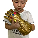 XXF New Iron Man Infinity Gauntlet for Kids, Iron Man Glove LED with Removable Magnet Infinity Stones-3 Flash Mode…