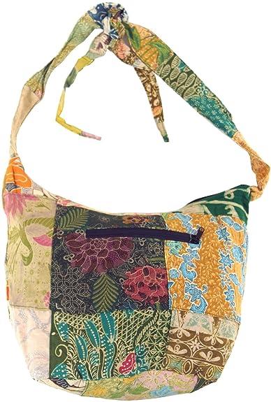 Guru Shop Patchwork Batik Beutel, Sadhu Bag, Hippie Tasche