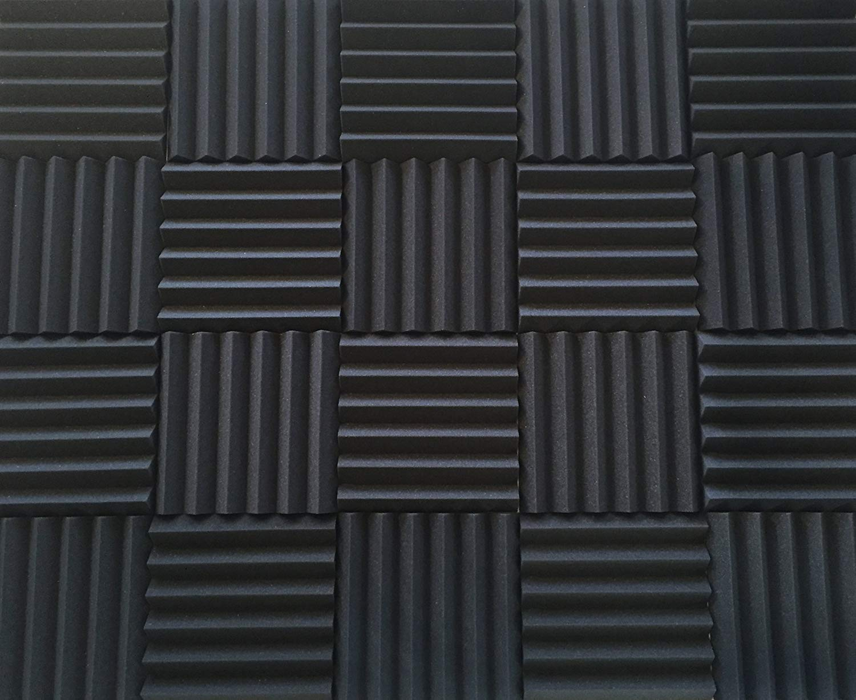 Soundproofing Acoustic Studio Foam - Wedge Style Panels 12''x12''x2'' Tiles - 4 Pack - DIY