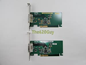Lot of 2 Dell X8760 Silicon Image Orion Add2-N Dual Pad PCIe x16 Video Card VGA