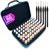 Pixiss Model Paint Storage Case Acrylic Paint Organizer Holder Tray Works with Top Hobby Paint Brands, Paint Rack or…