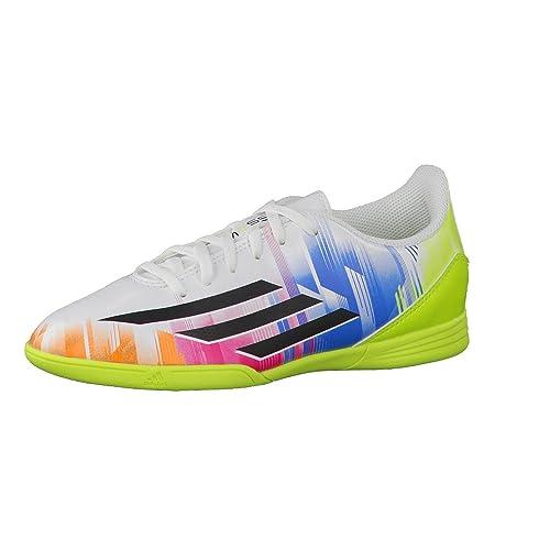 size 40 a3f7e ec9e8 Adidas Zapatillas Fútbol Sala Guantes F5 Fútbol en Niños (Messi)  Runwht Black, Color, Talla 34  Amazon.es  Zapatos y complementos