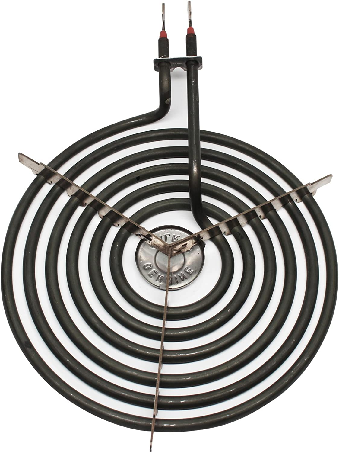Compatible with General Electric WB30M2 Heating Element for Range Stove /& Cooktop Replacement for General Electric JSP34WD1WW 8 inch 6 Turns Surface Burner Element
