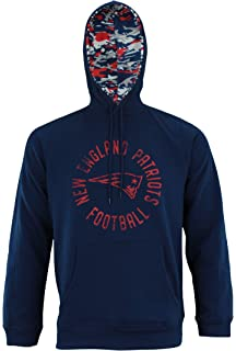 ca84bc0b4c4 Amazon.com   New England Patriots NFL KLEW Men s Striped Rugby ...