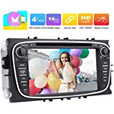 Eincar 7 inch Android 6.0 Car Radio Stereo Double Din Headunit with Bluetooth Autoradio for Ford Mondeo Ford S-max Focus Support GPS Navigation DVD CD 1080P Player 4G/3G WIFI DVR CAM-IN Mirror Link OBD2