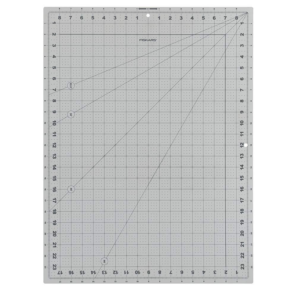 Fiskars Crafts 132070-1001 Cutting Mat – DIY (18 in. x 24 in.) in.), 18x24, Grey