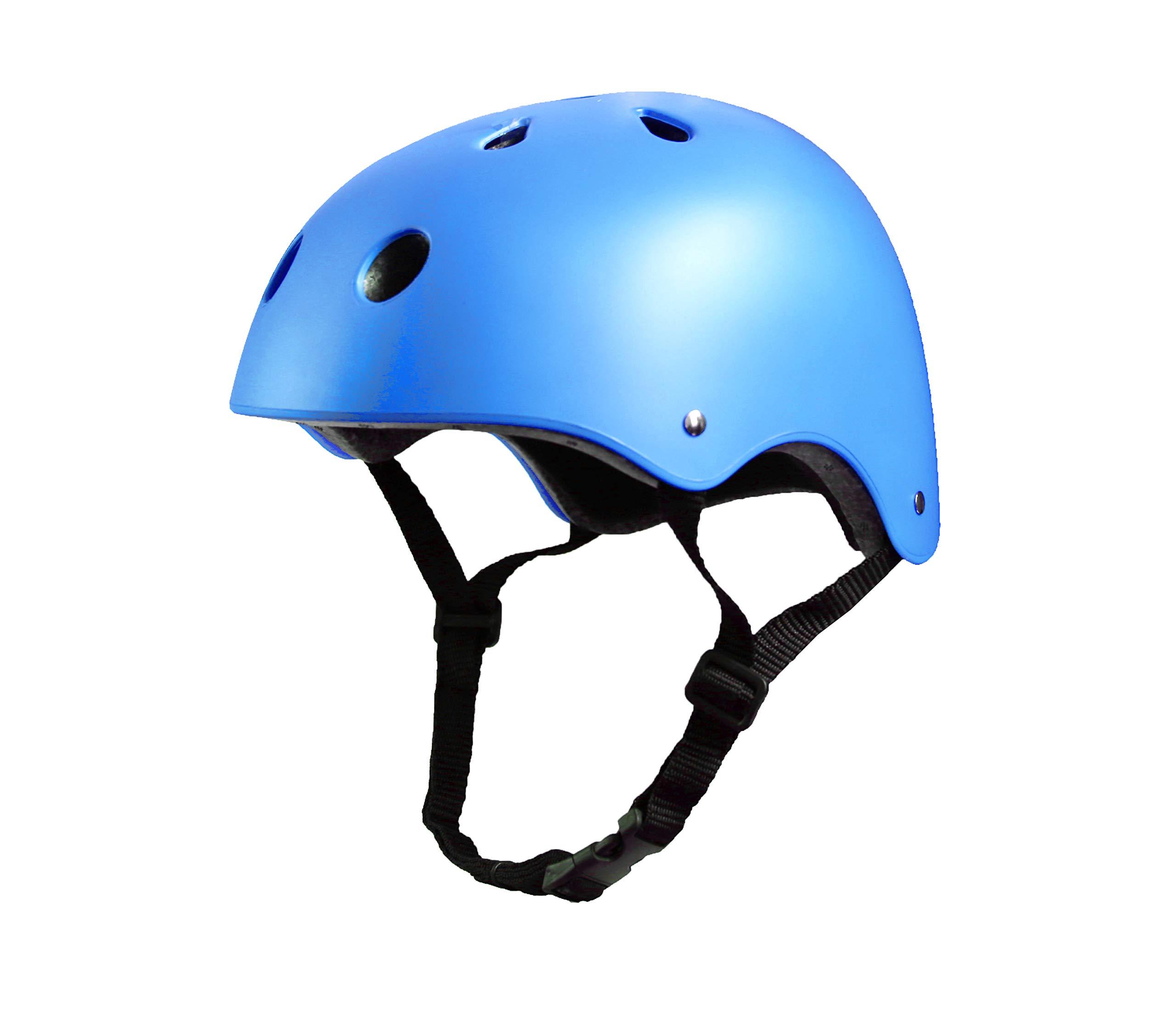 Tourdarson Adult Skateboard Helmet Specialized Certified Protection Multi-Sports for Scooter Skate Skateboarding BMX (Blue, Large)