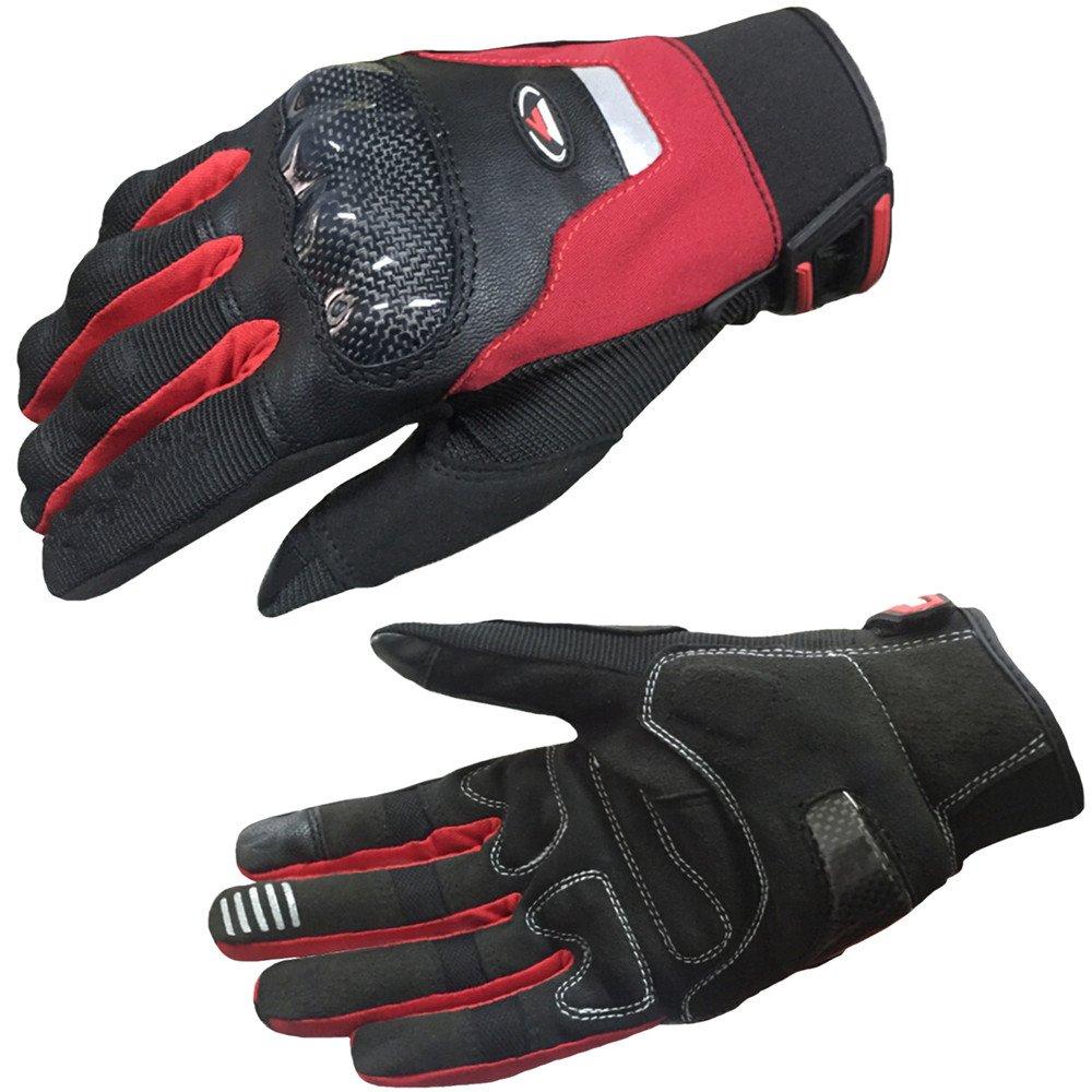 QARYYQ Winddichte Motorradhandschuhe, Motorrad-Reithandschuhe, Mehrere Farben Handschuh (Farbe   ROT, größe   XL)