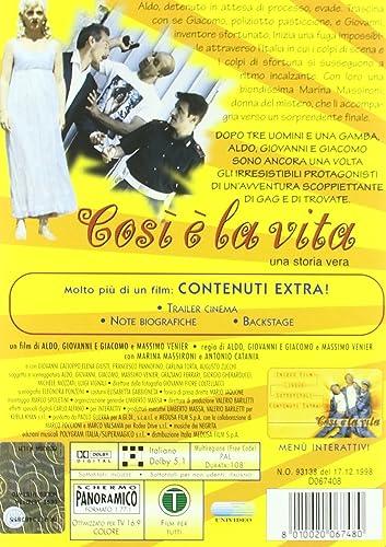 Amazon Com That S Life Cosi E La Vita Non Usa Format Pal Reg 0 Import Italy Aldo Antonio Catania Marina Massironi Giacomo Fabrizio Ambrassa Fabio Biaggi Big Jimmy Saturno Brioschi