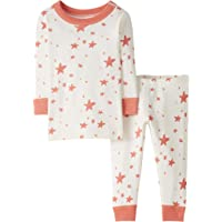Moon and Back by Hanna Andersson 2 Piece Long Sleeve Pajama Set Unisex bebé, Pack de 2