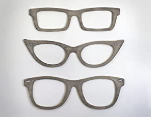 Eyeglasses Wall Decor Cats Eye Glasses, Wayfarer, Square Glasses Optometry Wall Art Optical Shop Art