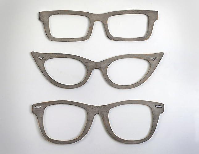 Fresh Amazon.com: Eyeglasses Wall Decor Cats Eye Glasses, Wayfarer  HT33