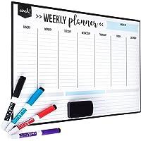 Cinch! 17 x 12 Inch Magnetic Dry Erase Weekly Calendar