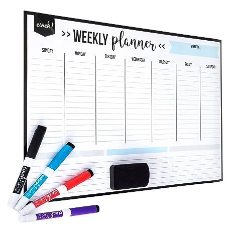 Amazon.com: Calendario semanal magnético.: Office Products