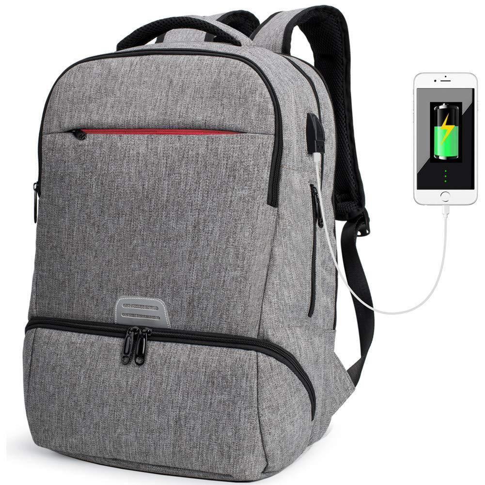 軽量防水ラップトップバックパックコンピュータバッグ用女性男性ビジネス作業旅行スポーツバックパック   B07KLZCQZN
