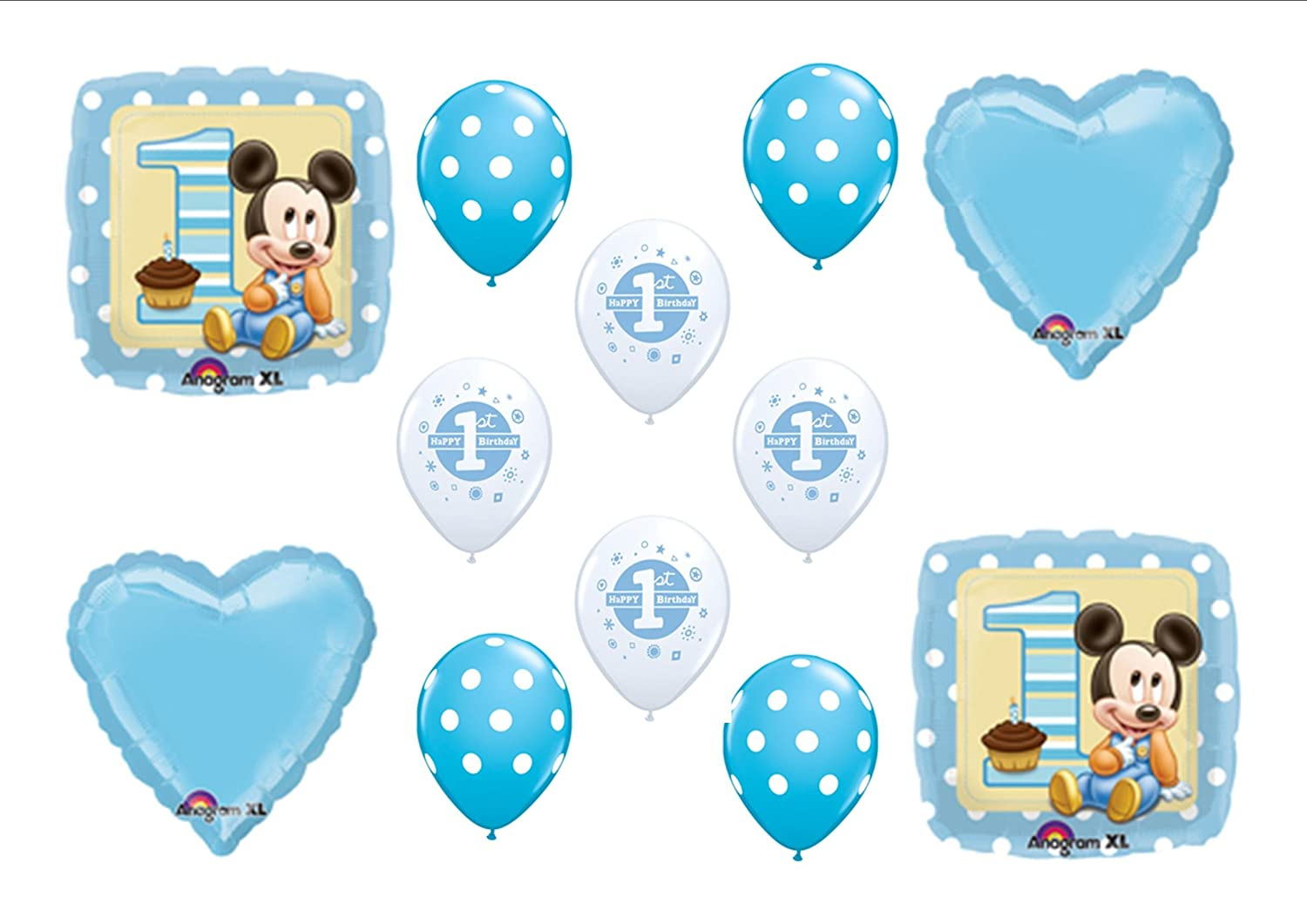 Amazoncom Baby Mickey Mouse Birthday 1st First Party Balloons