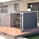 SVITA Fahrradgarage Bicycle Box Fahrradhaus Fahrradbox Bike-Box 5,6m³ Farbwahl (Dunkelgrau)