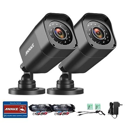 ANNKE Kit Camaras de Vigilancia(2x 720P TVI Cámara CCTV IR-CUT, 24