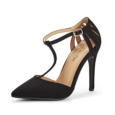 ea35f4c1e3a7f DREAM PAIRS Women's Oppointed-Mary Black Nubuck Fashion Dress High Heel  Pointed Toe Wedding Pumps Shoes Size 8.5 M US