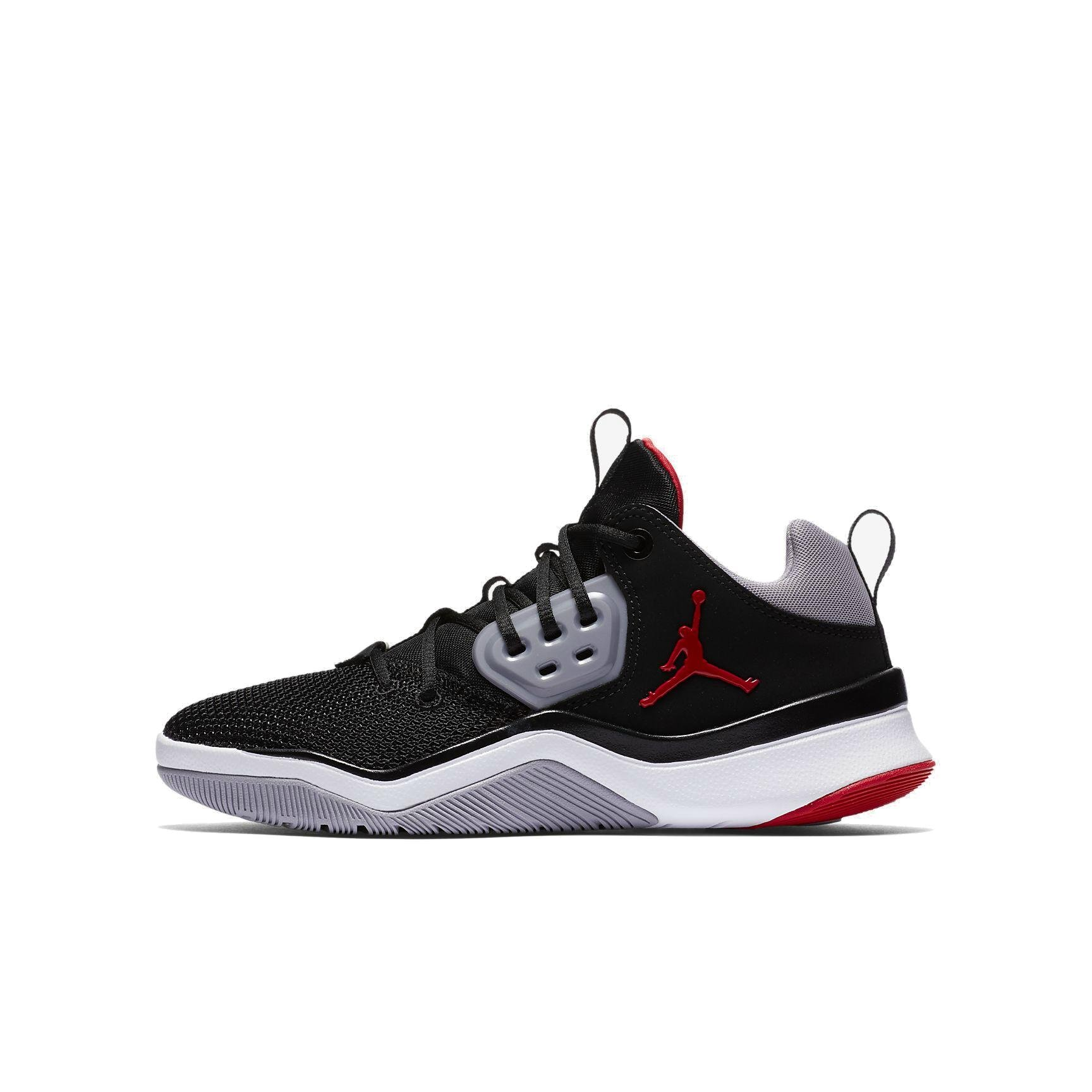 NIKE Jordan DNA (GS) Baby-Girls Fashion-Sneakers AO1540-001_6.5Y - Black/Gym RED-Cement Grey-White