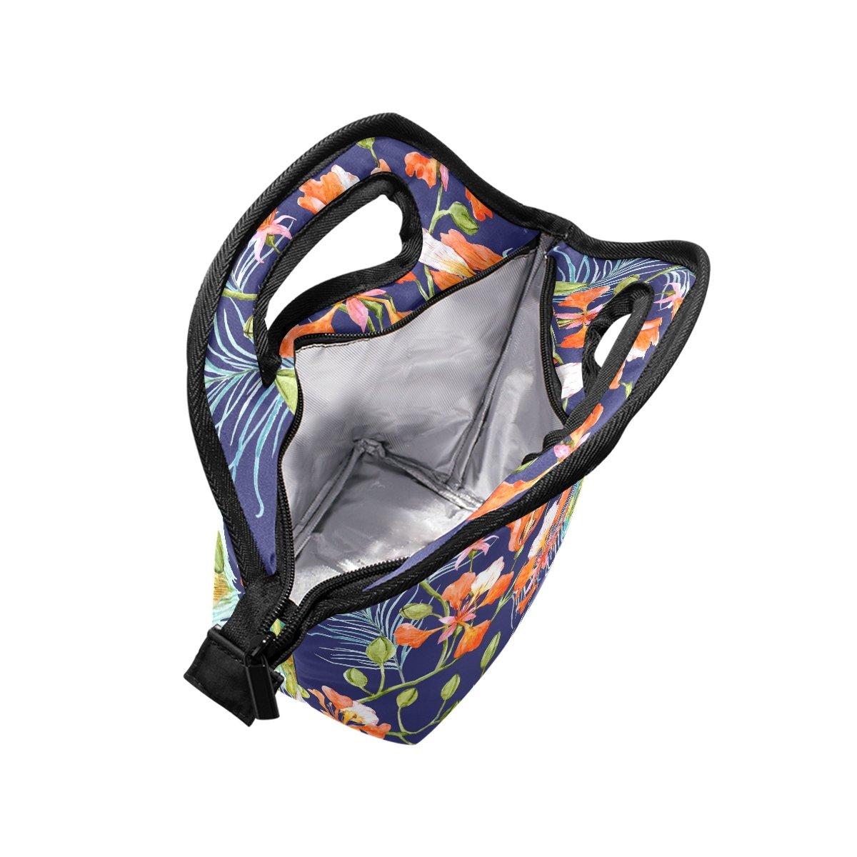 jstel Pfauenfeder FLOWER Lunch Bag Handtasche Lunchbox Frischhaltedose Gourmet Bento Coole Tote Cooler Warm Tasche f/ür Reisen Picknick Schule B/üro