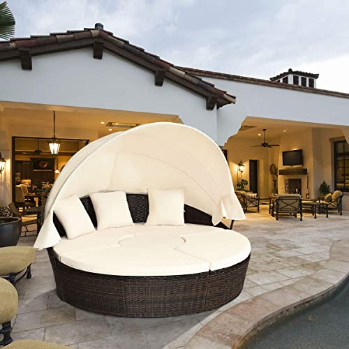 HAPPYGRILL Patio Round Daybed