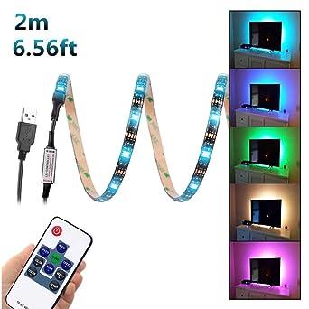 WenTop USB Led Strip,5050 2 M Flexibler LED Streifen, Led Lichtleiste,RGB
