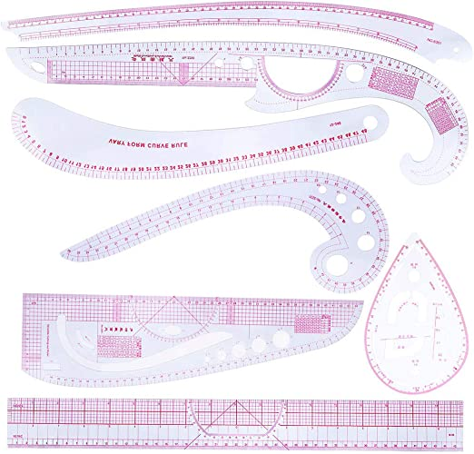 Xuniu 7 Piezas Clear Patchwork Costura Regla para medir la Costura ...