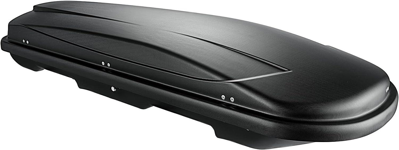 VDP Dachbox schwarz Juxt 500 gro/ßer Dachkoffer 500 Liter abschlie/ßbar Relingtr/äger Dachgep/äcktr/äger Quick aufliegende Reling im Set kompatibel mit Mitsubishi Outlander III ab 2013 bis