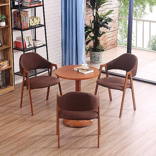 GZLL 4PCS Juego de Mesa de Comedor 1 Mesa y 3 sillas Restaurante ...