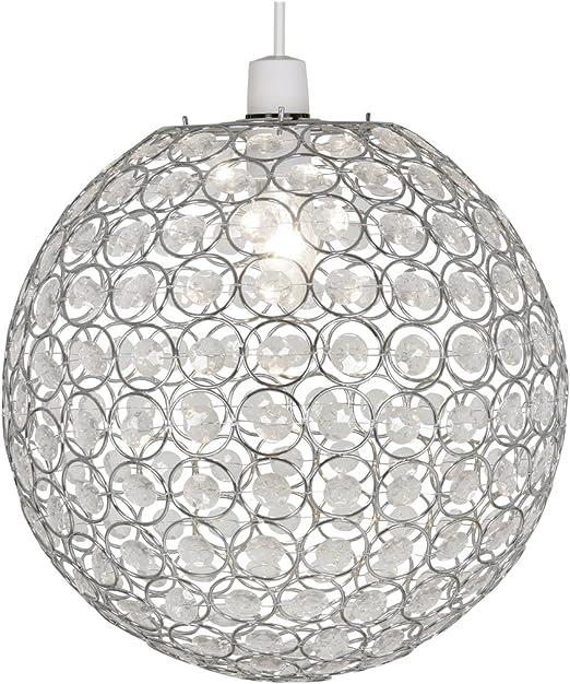 Imagen deOaks Lighting Kendal Coolie - Bola de techo con adornos de acrílico, color cromado y transparente