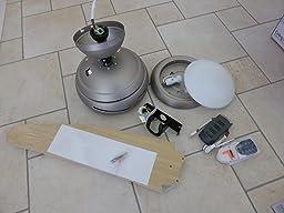 klarstein bolero deckenventilator mit licht und fernbedienung 134cm ventilator f r decke leise. Black Bedroom Furniture Sets. Home Design Ideas