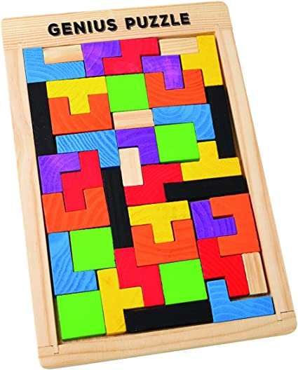 Building Block Educational Geometric Shape Recognition Box for Toddlers Kids
