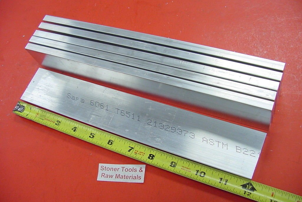 6 Pieces 3//8 X 2 ALUMINUM 6061 FLAT BAR 12 long .375 Plate Mill Stock .375