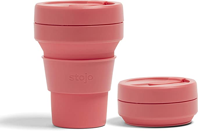 Stojo 24 oz Collapsible Coffee Cup | Collapsible cup, Coffee