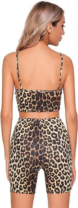 SOLY HUX Damen Crop Top und Shorts Set 2 Pieces Cropshirt Kurz Hose Rundkragen Sportwear Outfit Kombi-Set