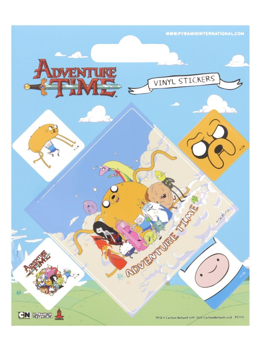 Pyramid International Adventure Time Adesivi in Vinile, Carta, 10 x 12.5 x 1.3 cm 10x 12.5x 1.3cm AFPS7211