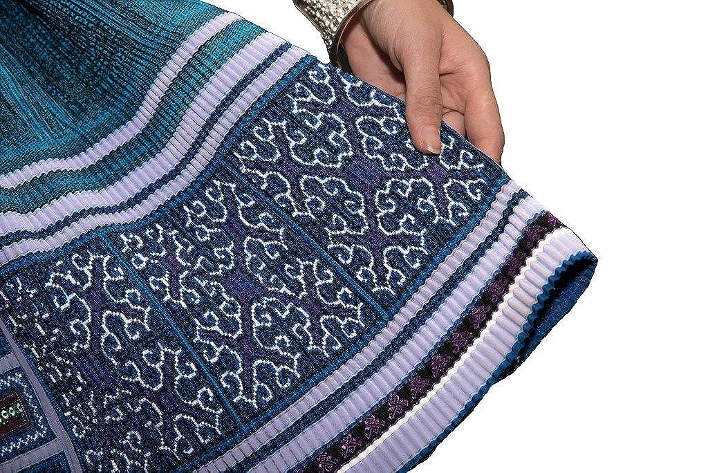 Interact China Falda Plisada Bordada Tribal Hmong Vestido Vintage Algodón 100% Artesanía #113: Amazon.es: Ropa y accesorios