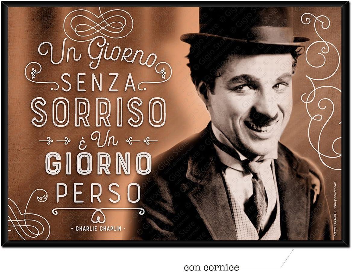 Wall Sticker Poster Adesivi Murali Frasi Aforismi Charlie Chaplin